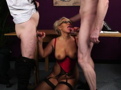 busty-spex-gilf-facialized-in-a-threesome