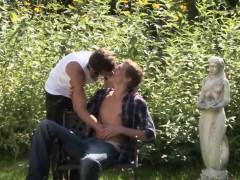 Outdoor Euro Amateurs Barebacking Before Cum