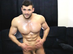 He Covers Me In Oil And Receives A Massive Cum Load