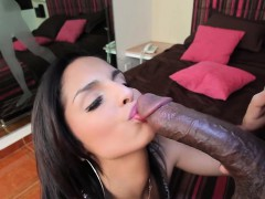 Voluptuous Transsexual Cannot Stop Riding This Steely Boner