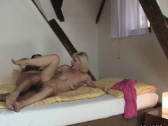 Blonde Mother-in-law Pleases Him