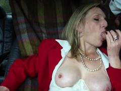 Hot Mature Blonde Smoking Blowjob