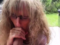 Submissive Wife Pleasing Cock Outdoors Pov