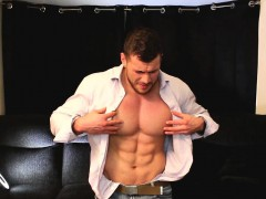 Muscle Meet Suit Jacket And Cum On Self