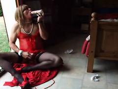 Crossdresser Solo At Home
