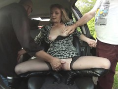 mature blonde with girl skinhead at an amateur sex club