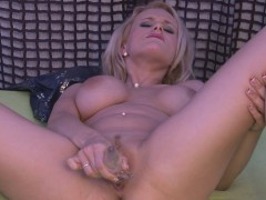 Horny Blonde Has To Masturbate Right Now!