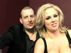 big titted blonde wife katie kox takes two dongs