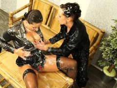 pretty slut gets her titties covered in slime at gloryhole