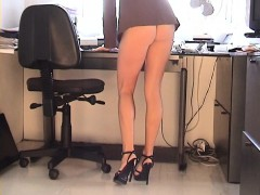 Karen White Mini Dress Upskirt