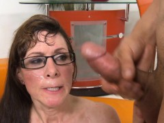Spex gilf facialized by younger cock