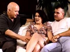 Dp Threesome For Screaming Brunette Swinger Milf Wife