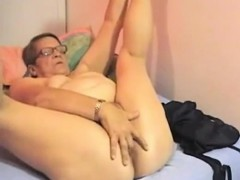 Fugly granny is old and horny