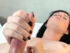 real-trap-with-buttplug-jerks-off-her-cock