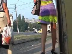 Voyeur Upskirt Film Shot Outdoors