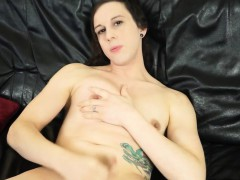 Amateur Femboy Solo Toying Ass And Spreading