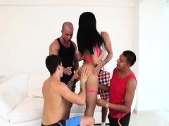 Big Tits Brunette Tranny Gets Cock Stuffed By Lots Of Dudes