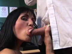ben dover giving brunette double penetration WWW.ONSEXO.COM