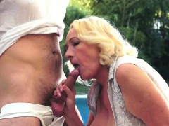 Granny With Her Lover Boy's Cock