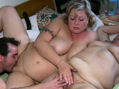 Threesome With Bbw And A Mature Nanny