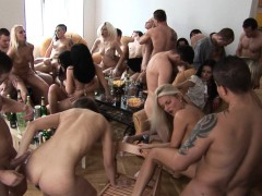 Big Tits Blonde Cum Covered At Home Party