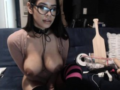 mexican babe reveal monster boobs in webcam