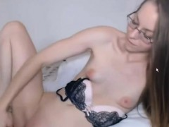 Lovelly Hot Nerd Masturbates Pussy