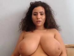 Busty Model Bouncing Boobs
