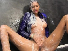 slimed slut masturbates