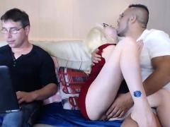 Webcam Hot Blonde In Nasty Threesome