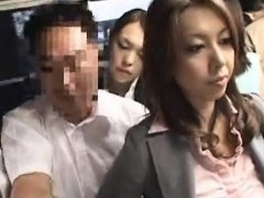 sexy japanese babe getting her booty touched in the public bus WWW.ONSEXO.COM