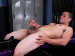 Solo amateur ripped off duty cop jerking cock