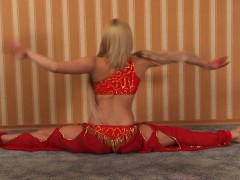 sexy-belly-dancer-in-a-red-dress
