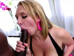 Intimidating hot Brooke pounds a bbc