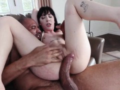 mistress spanking slave and dildo throat gagging first
