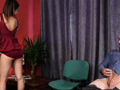 British Voyeur Babe Teases And Instructs