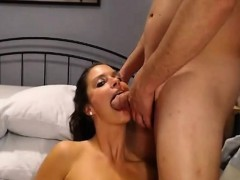 Brunette With Big Beautiful Tits Double Blowjob And Facial