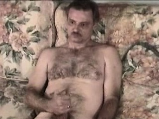 Crazy old bastard loves playing with his hairy cock solo