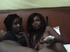 here we have two very sexy ebony dykes who are ready for