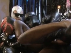 latex guys smashing an extremely juicy ebony slut