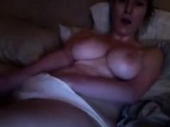 brunette with huge tits masturbating on webcam Hot