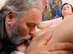 Horny Old Fucker Enjoys Sex With Young Impressive Sweetheart