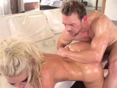 annika albrite gets oiled and banged