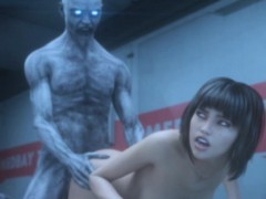 3d zombie fucks helpless sweet scientist! WWW.ONSEXO.COM