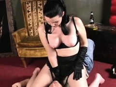 Hot Headmistress Ties Him Up And Smothers Him With Her Arse