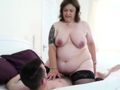 british chubby mature lady takes a young penis