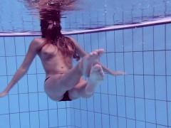 Bushy And Surprised Underwater Teen Gurchenko
