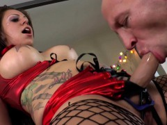 Busty Mistress Pegging And Rimming In Femdom