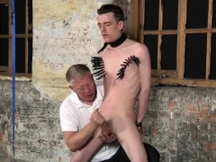 Male Gay Pron Bondage With His Fragile Nuts Tugged And