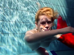 Hot Blonde Lucie French Teen In The Pool